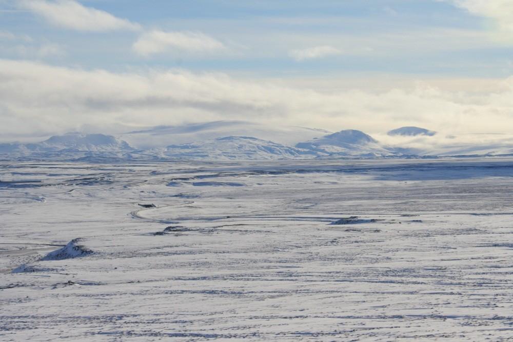 ...und die riesige Eiskappe des Vatnajökull