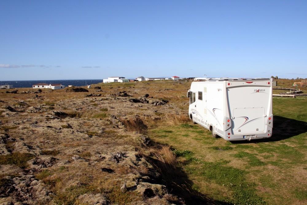 Wir erreichen unseren Campingplatz in Hellissandur