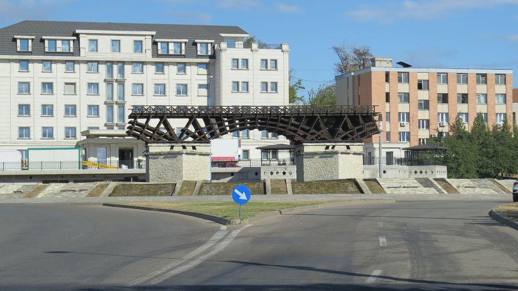 ...Nachbildung der Traians-Brücke aus der Römerzeit
