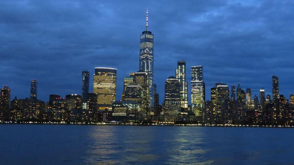 Blick von Jersey City auf Manhattan