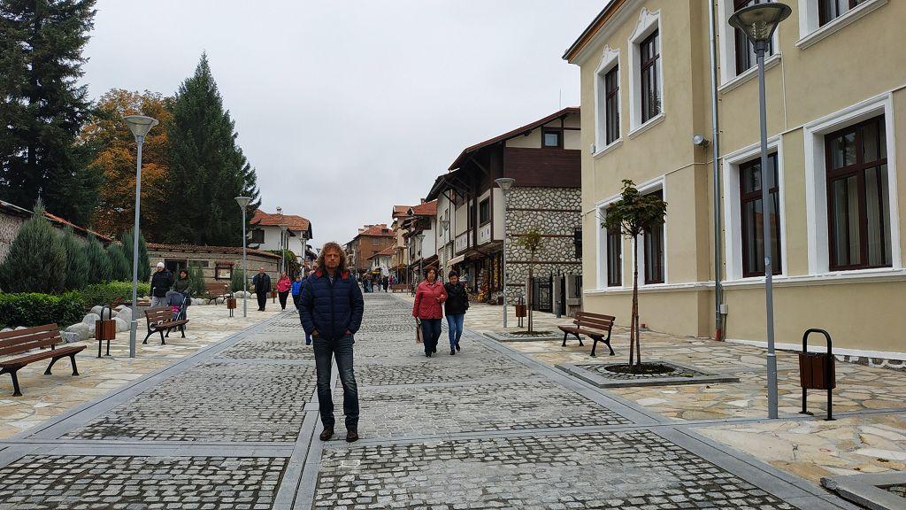 Fußgängerzone in Bansko