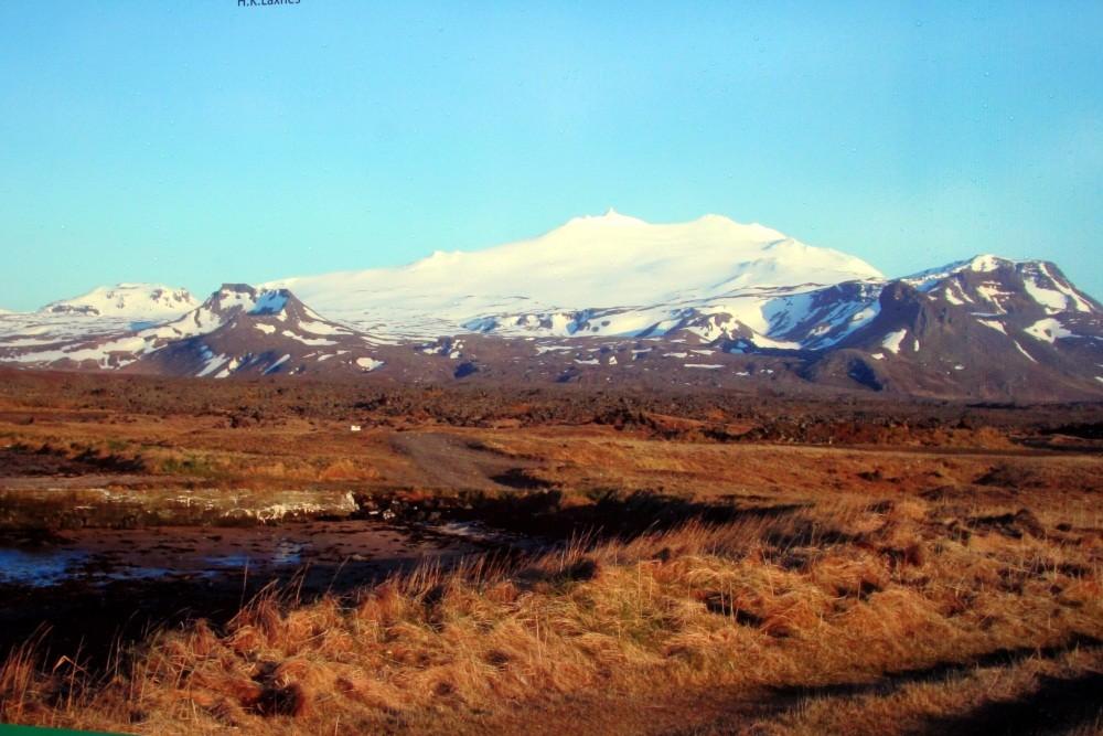 Und endlich der Snaefellsjökull fast wolkenfrei.
