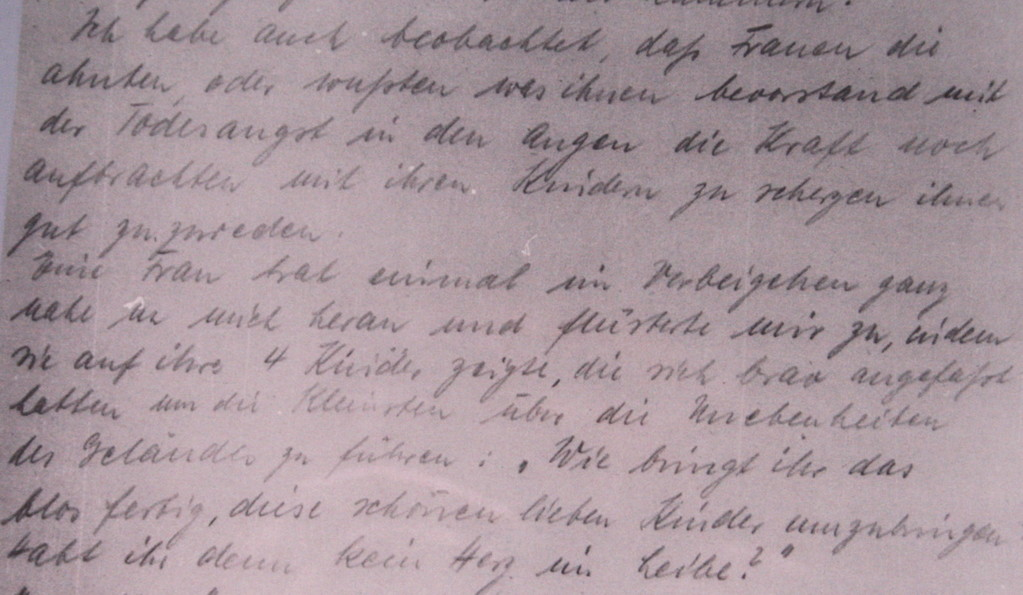Original-Protokoll aus der Gaskammer