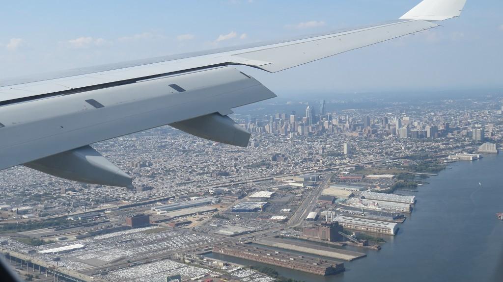 Anflug auf Philadelphia