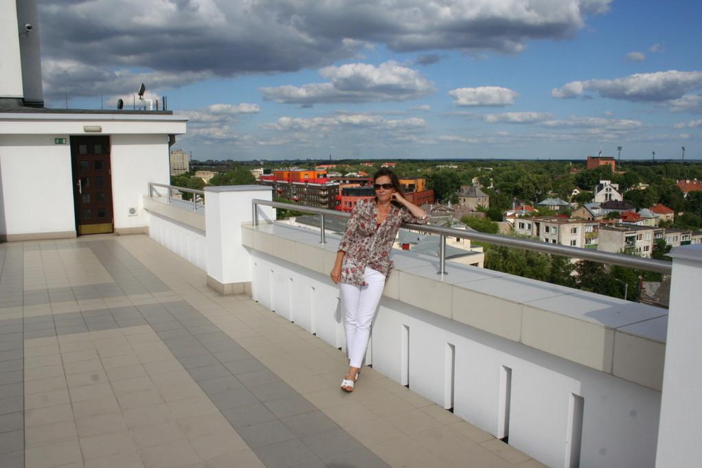 Blick von oben auf Kaunas