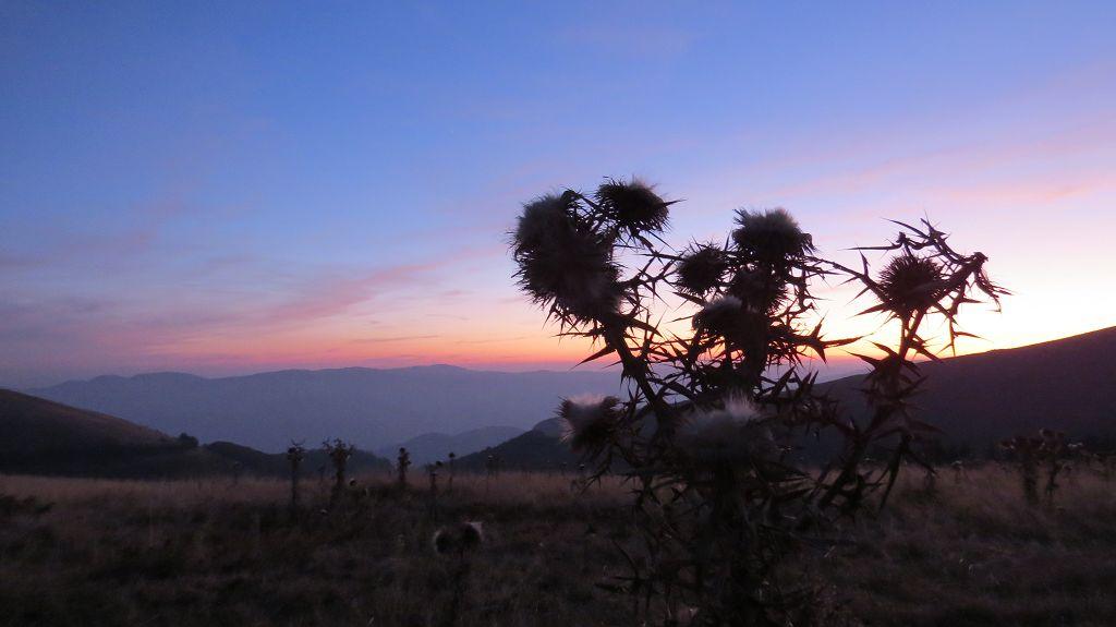 Sonnenuntergang am Troyanpass