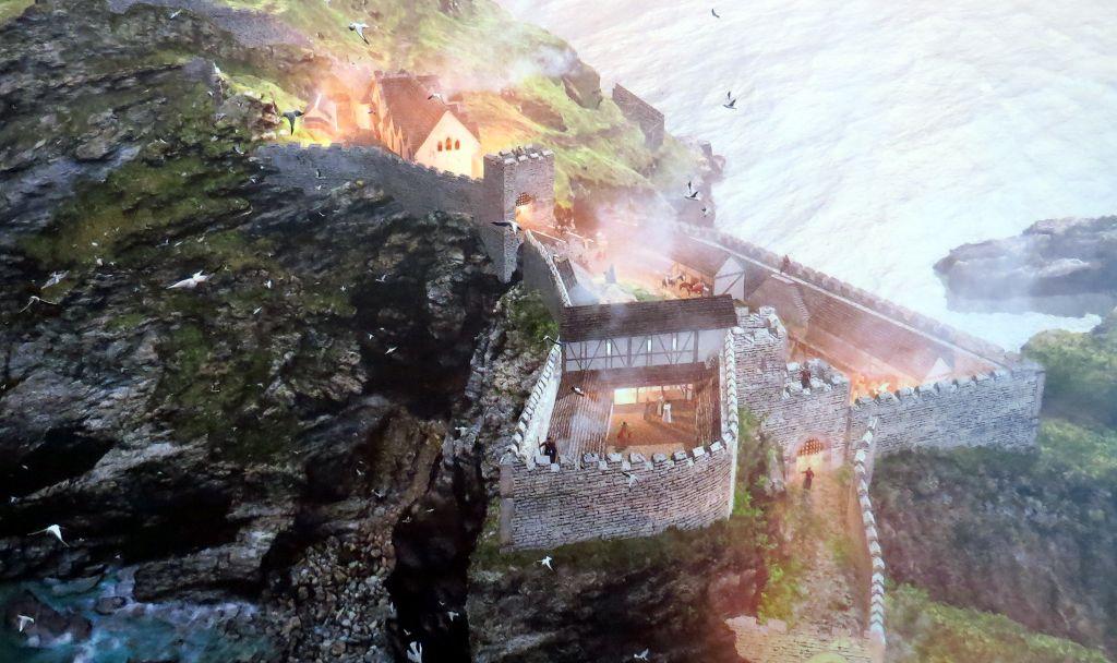 Die Burg Tintagel brennt nieder