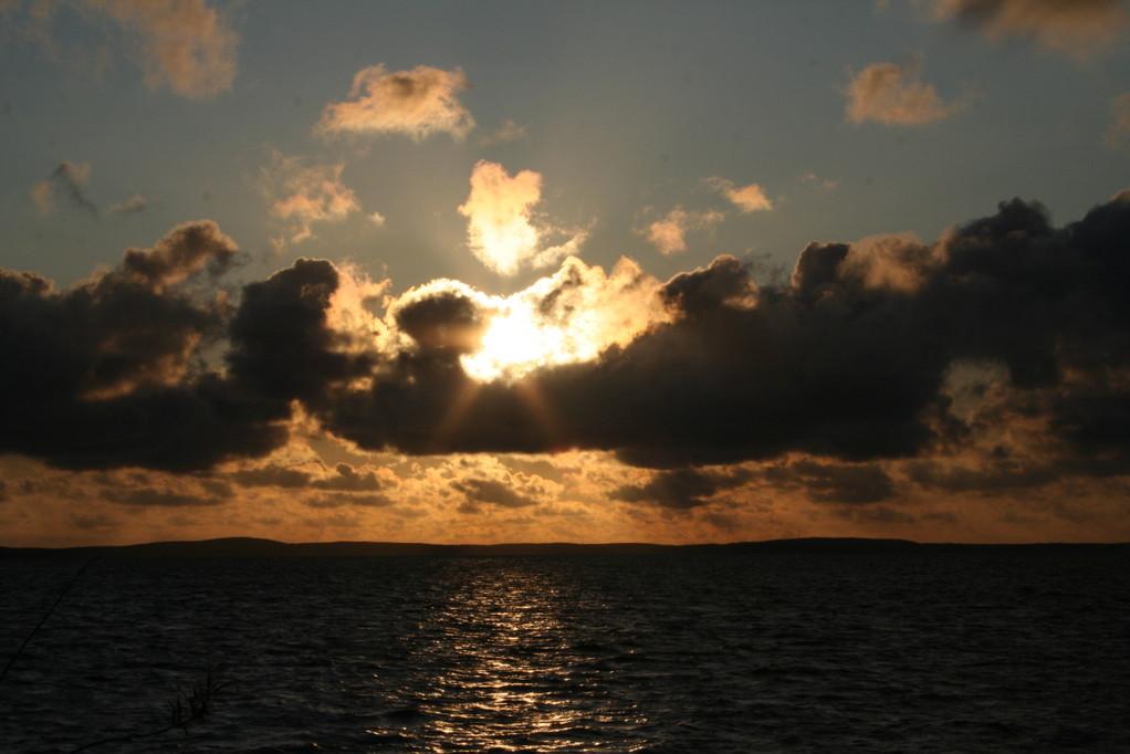 Sonnenuntergang an der Nehrung