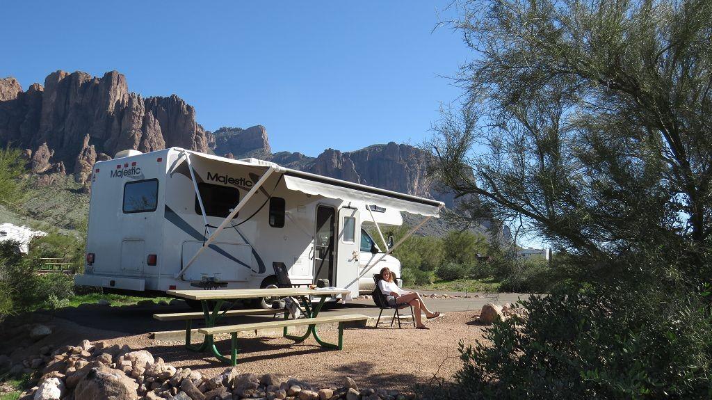 Camping Lost Dutchman, Phoenix