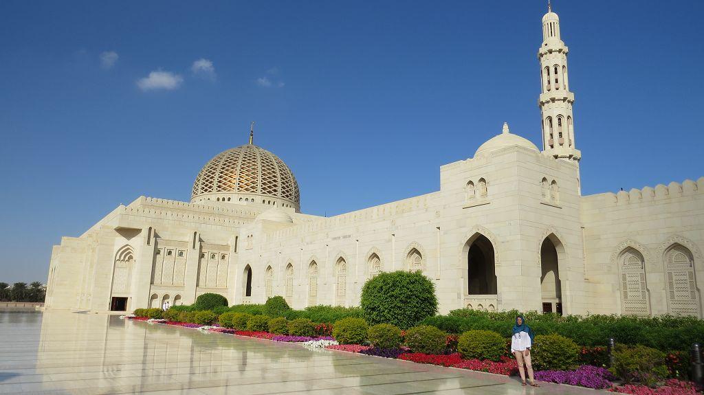 Wir besichtigen die große Moschee in Muscat