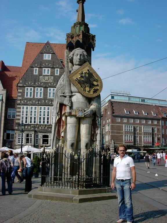 Roland und Axel in Bremen