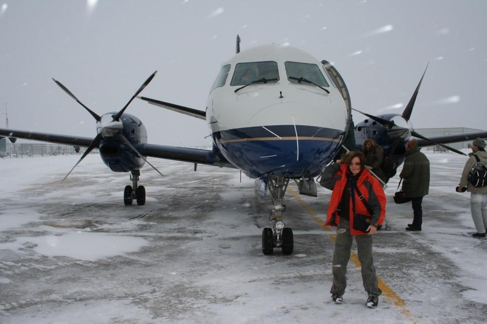 Wir fliegen zurück nach Winnipeg