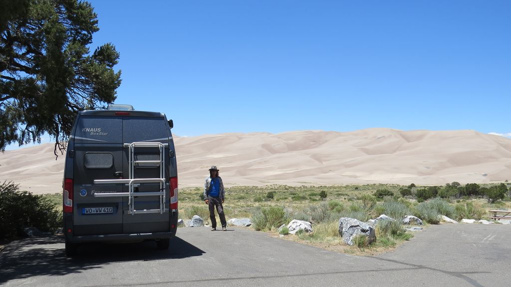 Unser Platz an den Great Sand Dunes