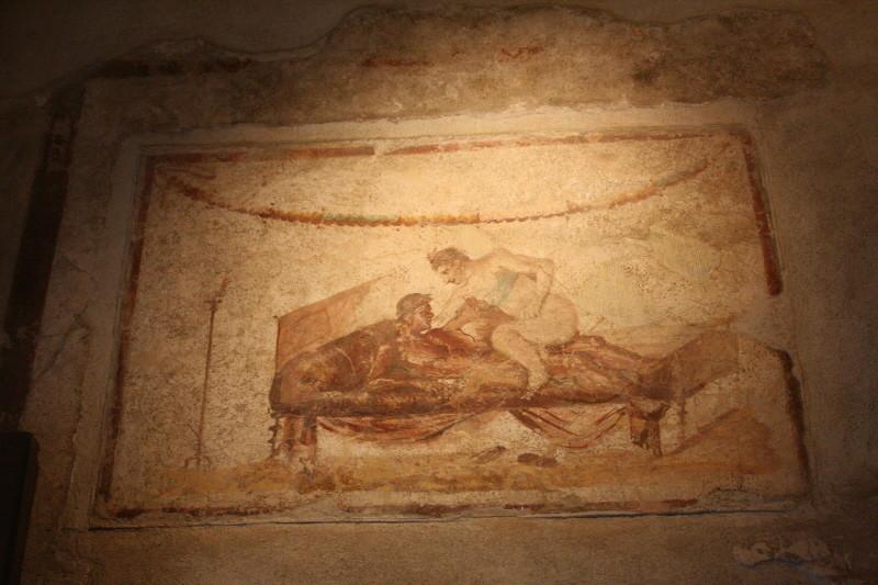 Pompei, Gemälde im Lupanarium (Freudenhaus)