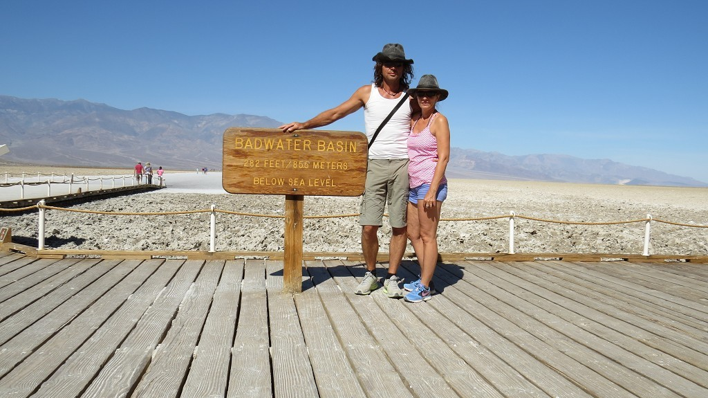 Badwater Salt Flat (86 m unter dem Meer)