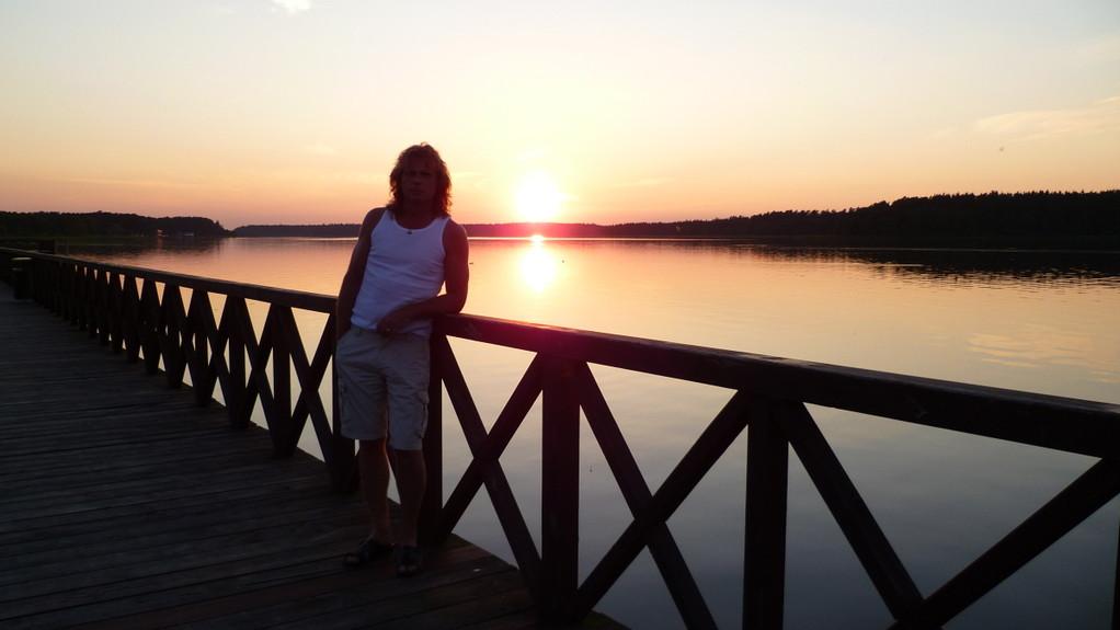 Letzter Sonnenuntergang in Polen
