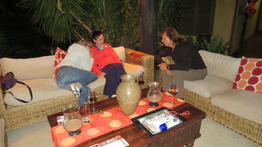 Treffen mit Karola und Renate in der Villa Verdi in Windhoek