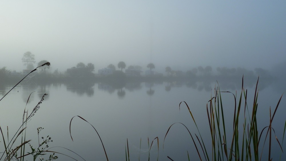 Nebel über dem Lake am frühen Morgen