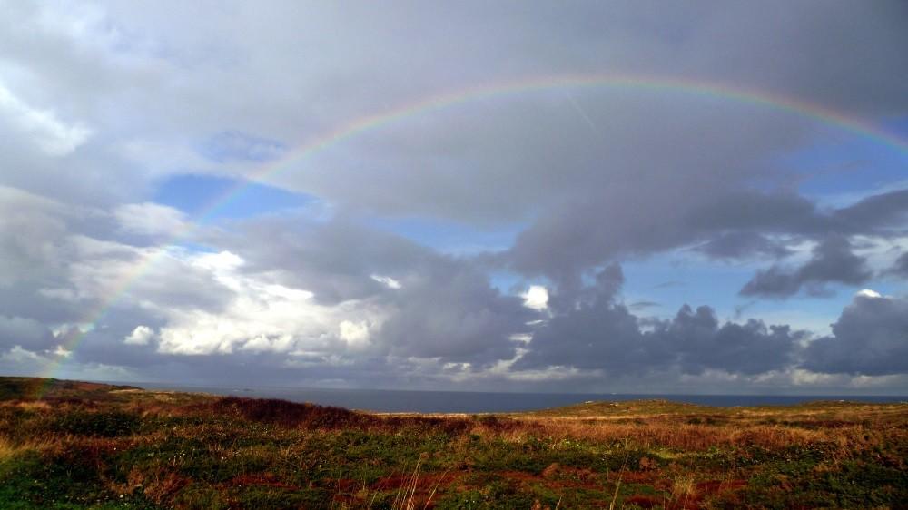 ...mit Regenbogen