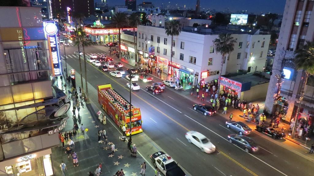 Der Hollywood Boulevard wird gesperrt, Filmdreh!