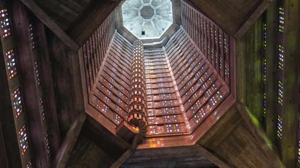 Deckenhöhe des Kirchturms: 84 m