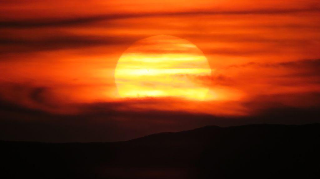 ...mit Sonnenuntergang...