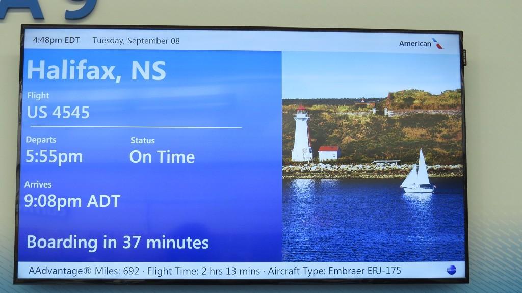 Warten auf den Flieger nach Halifax
