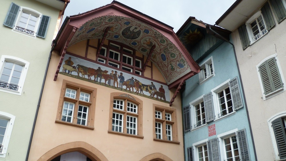 Spaziergang durch Aarau