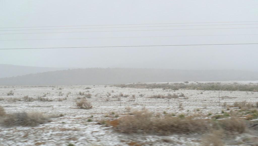 ...und dann fängt es an zu schneien !