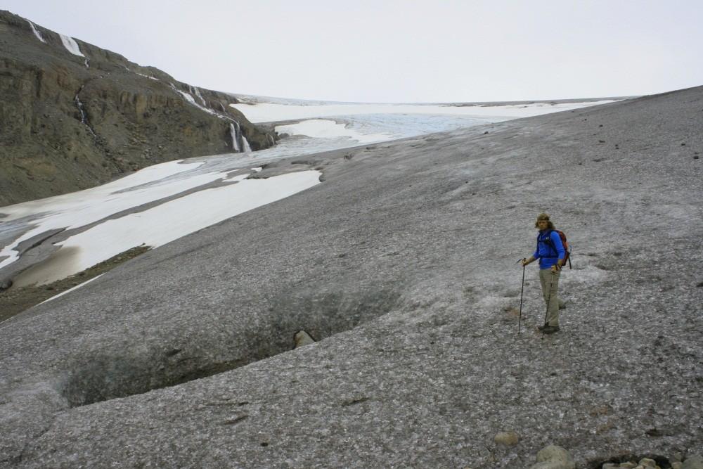 ...zur Gletscherzunge.