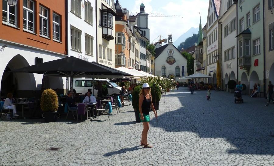 Spaziergang durch Feldkirch (Österreich)