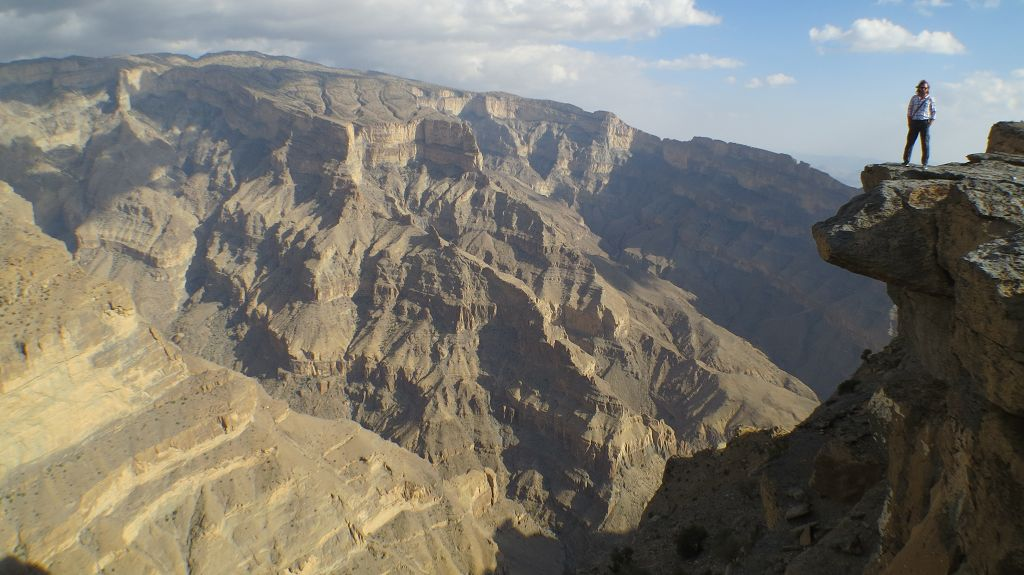 ...Grand Canyon des Oman am Jebel Shams
