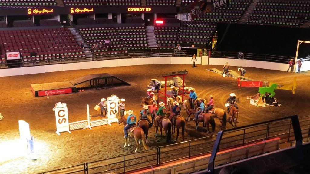 Cowboy-Show im Saddledome