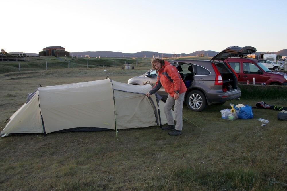 28. Juli  5:00 Uhr: Zeltabbau nach einer kalten Nacht