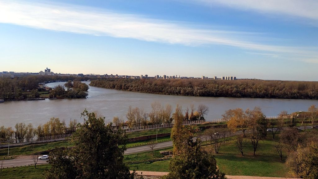 Zusammenfluss von Donau und Save