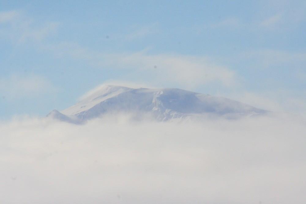 Die Spitze des Gletschers Snaefell