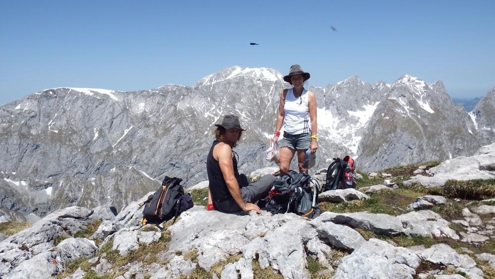 Wir gehen 600 m bergauf UND 600 m bergab
