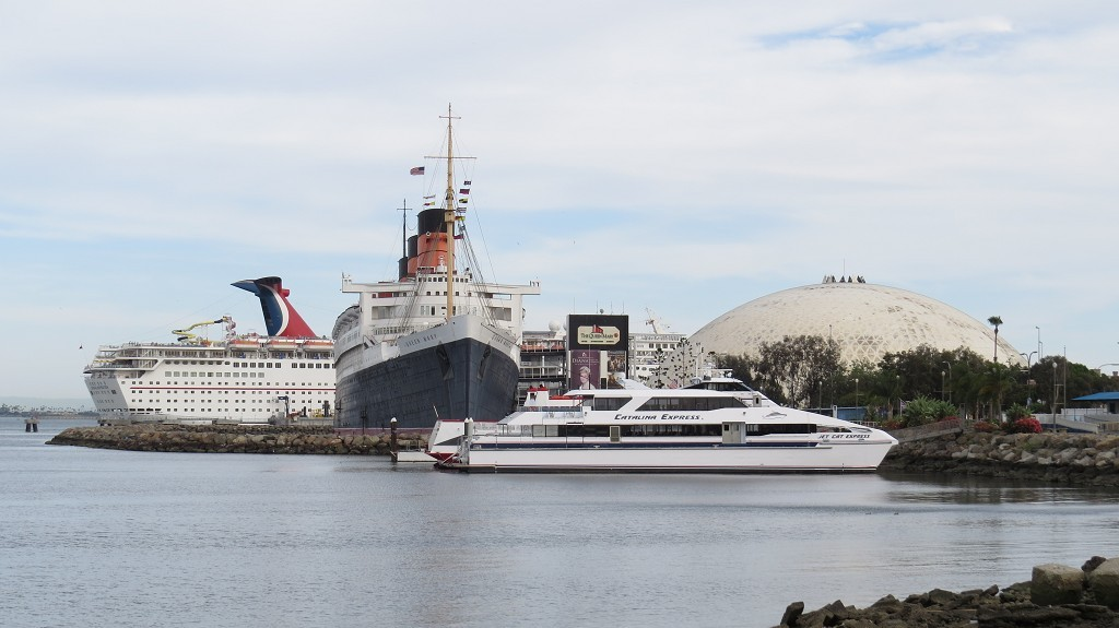 Queen Mary (1936) in Long Beach