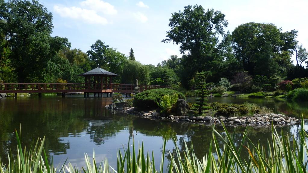 Japanischer Garten an der Jahrhunderthalle