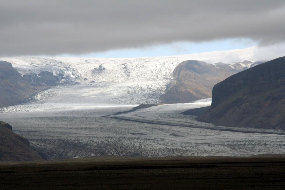 """Die Gletscherzunge """"Skaftafellsjökull"""""""