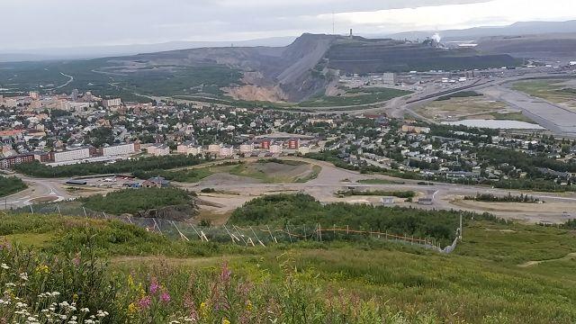 Blick auf Kiruna und die Gruben