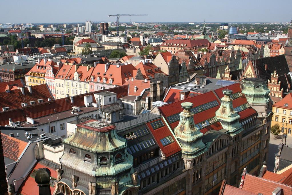 Blick auf Breslau