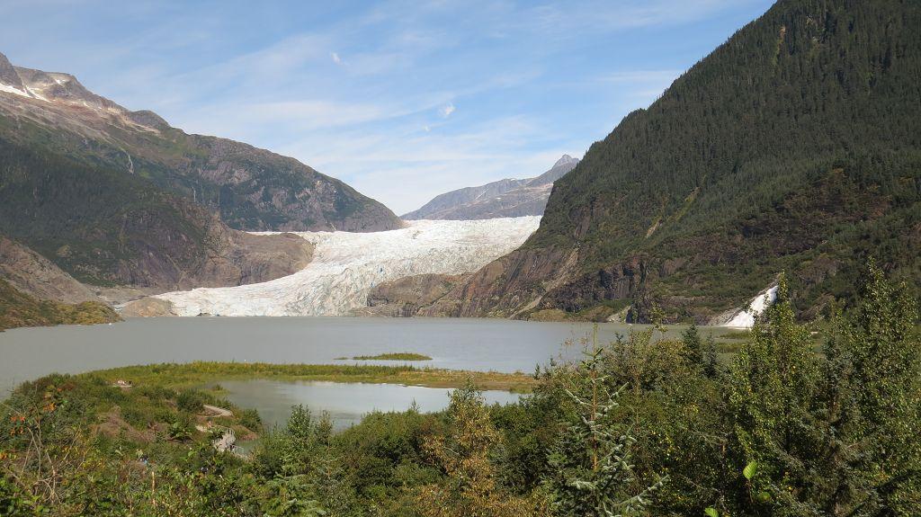 Blick zum Mendenhall Glacier