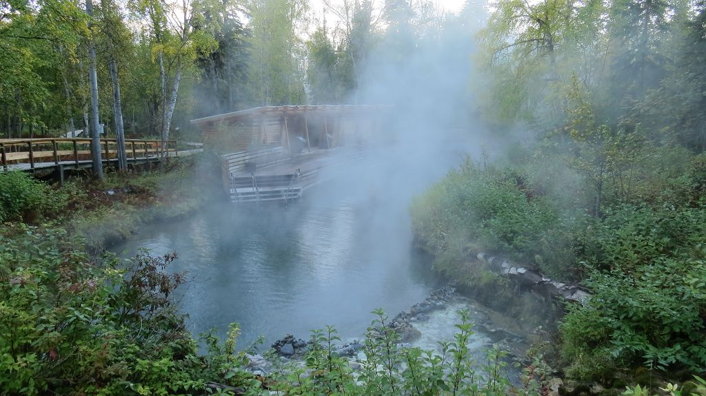 Morgens an den Hot Springs