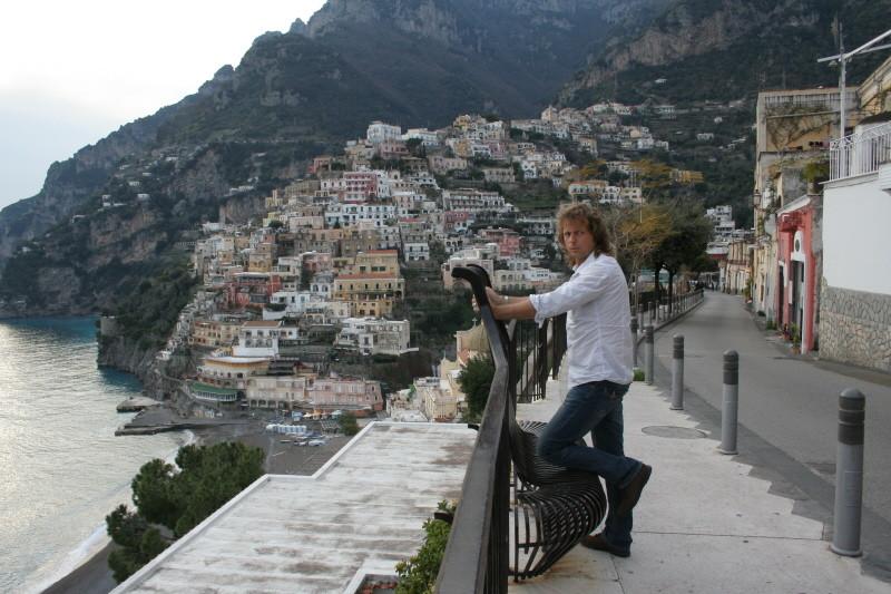 Blick auf Positano, Amalfi-Küste