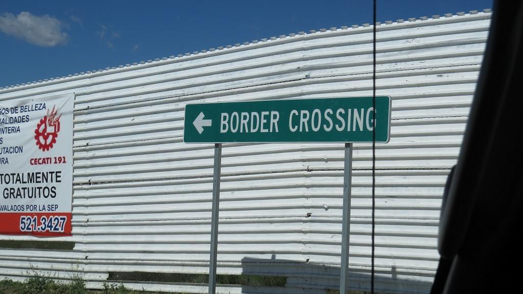 Grenzanlage, noch in Mexiko