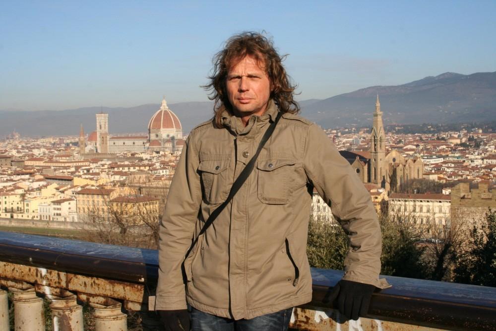 Am nächsten Morgen an der Piazzale Michelangelo