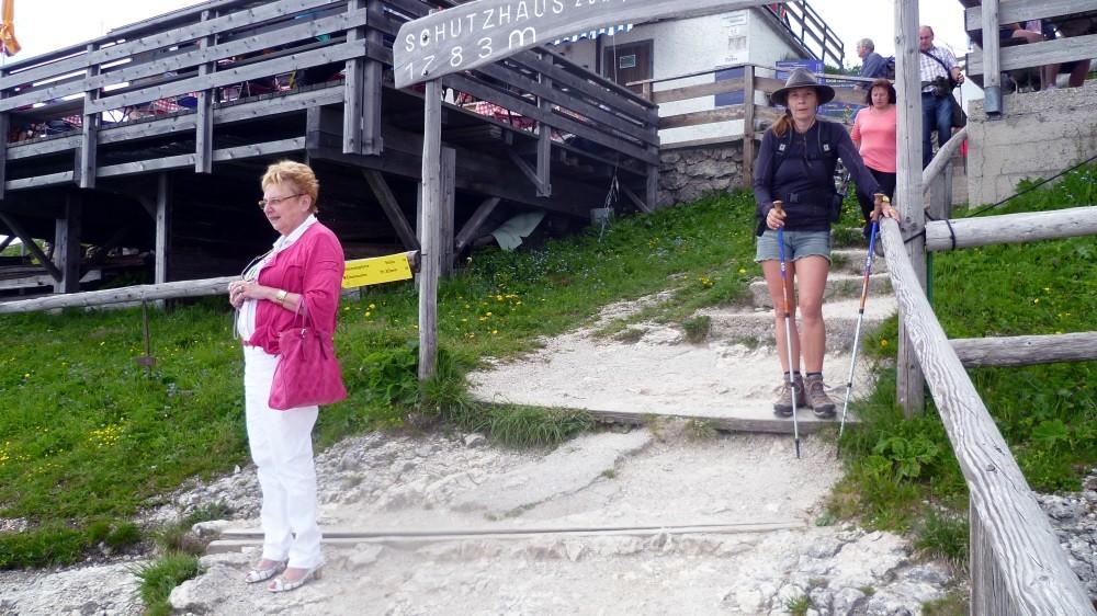 ...zum Schafberg (die meisten fahren mit der Zahnradbahn!)
