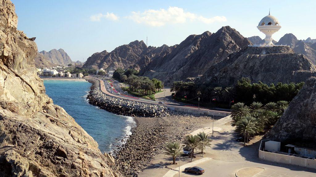 Auf dem Weg zum Sultans-Palast in Muscat