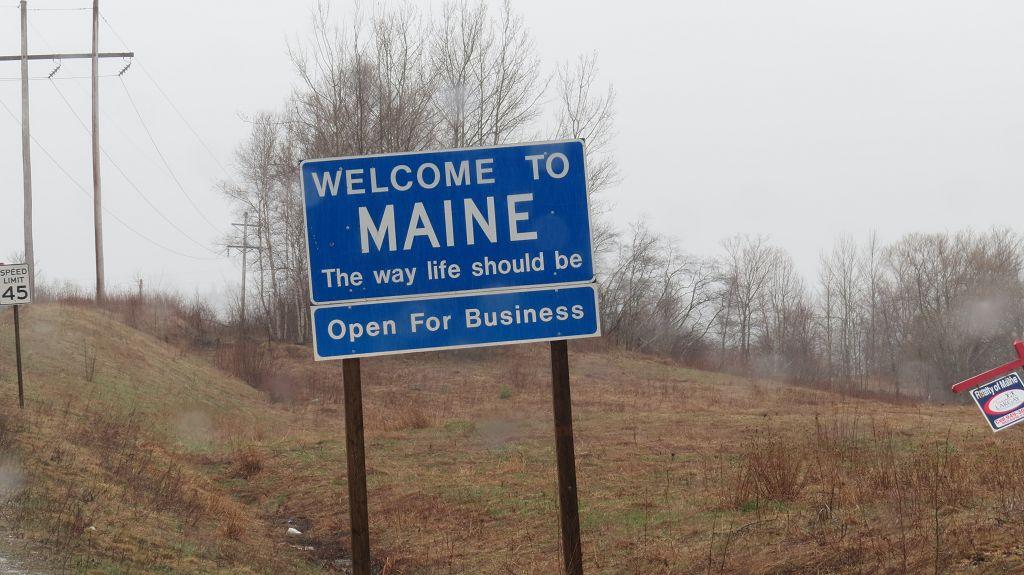 Wir sind in Maine